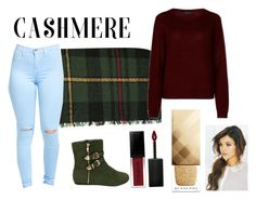 """Burberry and Cashmere"" by jamibami ❤ liked on Polyvore featuring 360cashmere, Smashbox and Burberry"