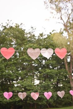 heart bunting  Photography by cappyhotchkiss.com