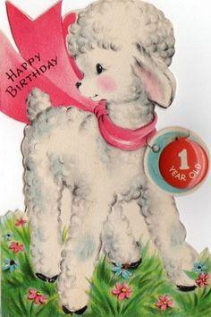 1 Vintage Greeting Cards, Birthday Greeting Cards, Birthday Greetings, Vintage Postcards, Vintage Images, Happy Birthday, Vintage Birthday, Vintage Easter, Vintage Christmas