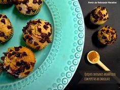 Ponto de Rebuçado Receitas: Queques integrais aromáticos com pepitas de chocolate