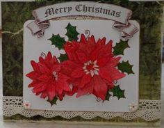 Last Minute Christmas Card Idea Holiday Cards, Christmas Cards, Pink Highlights, Retro Art, Poinsettia, Handmade Christmas, Creative Inspiration, Painting Inspiration, Paint Colors