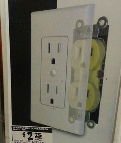 Fix for Ugly Outlets! No Wiring Involved! Easy Fix for Ugly Outlets! No Wiring Involved!Easy Fix for Ugly Outlets! No Wiring Involved! Home Renovation, Home Remodeling, Kitchen Remodeling, Electrical Outlet Covers, Electrical Outlets, Electrical Wiring, Do It Yourself Furniture, Do It Yourself Home, Home Improvement Projects