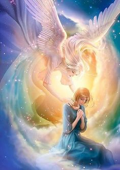 anime angel, faworki, anioły i demony, obrazy Anime Angel, Ange Anime, Angels Among Us, Angels And Demons, Fantasy Kunst, Anime Kunst, I Believe In Angels, Prophetic Art, Beautiful Fantasy Art