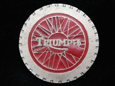 OI03167 VINTAGE 1970s **TRIUMPH** MOTORCYCLE COMPANY PEWTER BELT BUCKLE