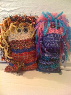 "May Dolls: my 5th grade students made these awesome soft sculptures from a weaving lesson in the book, ""Kids Weaving"""