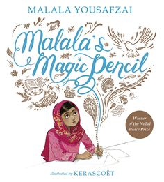 Malala wishes for a magic pencil to draw things to make others happy. Malala's Magic Pencil by Malala Yousafzai promotes gender roles, resilience & courage. Malala Yousafzai, Nobel Peace Prize, Pbs Kids, Children's Picture Books, Penguin Books, Strong Girls, John Green, Kids Education, Ethereal