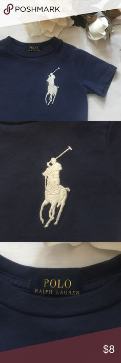 ⚜2T Big Pony Polo Short Sleeve T-Shirt⚜ Blue Polo by Ralph Lauren t-shirt with white polo emblem and signature number three on sleeve⚜100% cotton Polo by Ralph Lauren Shirts & Tops Tees - Short Sleeve