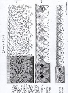 consultor - MªCarmen(Blanca) - Picasa Albums Web Tunisian Crochet Patterns, Bobbin Lace Patterns, Crochet Stitches, Embroidery Patterns, Hairpin Lace Crochet, Bruges Lace, Romanian Lace, Bobbin Lacemaking, Lace Heart