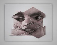 Origami portraits by Aldo Tolino