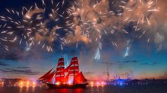 Scarlet Sails show marks Russia's high school graduation in St. Petersburg