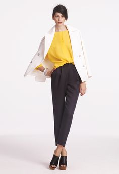 all you need is a pop of yellow and the perfect trouser
