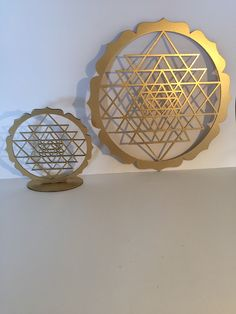 The word 'yantra' means 'instrument' and this is exactly what this symbol is: an instrument or powerful tool for intense meditation, prayer or concentration to allow one to achieve a higher level of consciousness. Wood MDF.