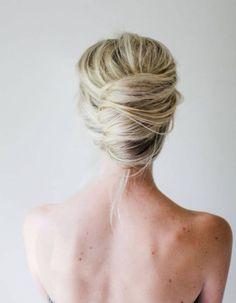 Coiffure de mariée Chignon bohème - Les plus jolies coiffures de mariées pour s'inspirer - Elle