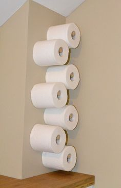 a great Idea for your extra rolls of tp in the bathroom