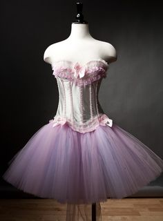 Size Large burlesque corset prom dress Ready to Ship by Glamtastik, $250.00