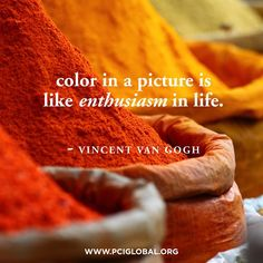Communication & colour quoted by the artist Van Gogh