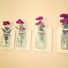 Mason Jar Wall Vases — Two Thirds Hazel