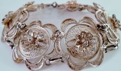 Victorian French Lace Filigree Sterling by Libbysmomsvintage