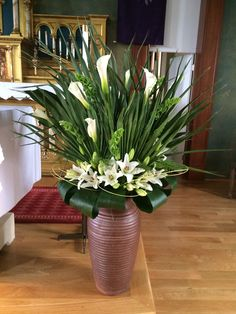 Palm Sunday- lilies and palms