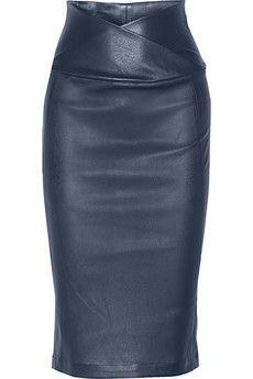 Zero+MariaCornejo Nebi leather pencil skirt | NET-A-PORTER