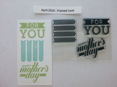 This is the stamp set that was included with the April 2014 - Framed Love