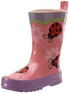 Stephen Joseph Girls 7-16 Ladybug Rain Boots,Petal Pink,9 Stephen Joseph. $28.00