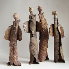 ceramic sculptures of angels I made