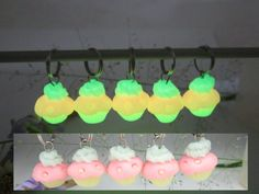 Glow in the Dark Cupcake Stitch markers Set of 5 by beadpassion