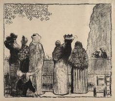 Édouard Vuillard, Les Tuileries, lithograph 1895