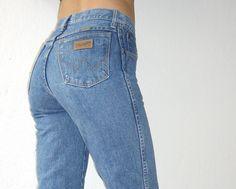 Jeans Wrangler Hellblau original Vintage!!!! 70er Anfang 80er Jahre Gr. 26/32 in Kleidung & Accessoires, Vintage-Mode, Vintage-Mode für Damen | eBay
