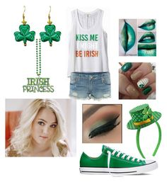 """Marie St. Patrick's Day"" by wisegirl308 on Polyvore featuring Express, By Emily, True Religion, Converse and Capelli New York"
