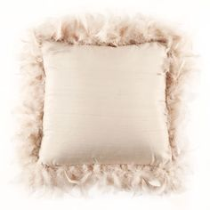 Zara home. Satin feather cushion