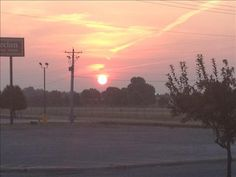 Sunrise in Paragould from an anonymous user on 8/6/14.