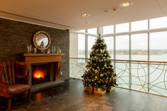 Christmas Tree in the Cliff House Hotel Lobby