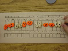 Ghost and Pumpkin Lima Bean Math Manipulatives