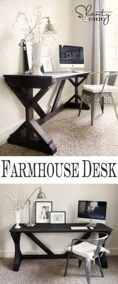 DIY Farmhouse Style Desk