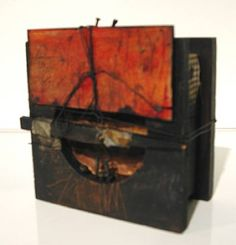 Mixed media box construction - Hannelore Baron - mixed media collage