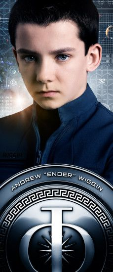 "Andrew ""Ender"" Wiggin's character banner that displayed at the #EndersGame Experience at San Diego Comic Con 2013."