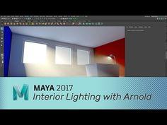 Maya 2017 - Interior Lighting with Arnold - YouTube