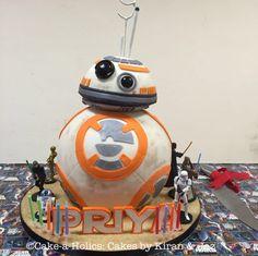 BB-8 birthday cake
