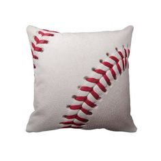 Baseballs - Customize Baseball Background Template Throw Pillows
