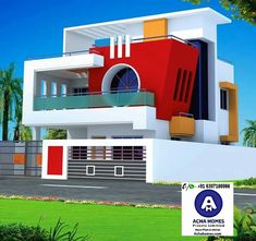 small house with car parking construction elevation के लिए इमेज परिणाम House Outer Design, Modern Small House Design, Modern Exterior House Designs, House Front Design, Exterior Design, Front Elevation Designs, House Elevation, Independent House, Model House Plan