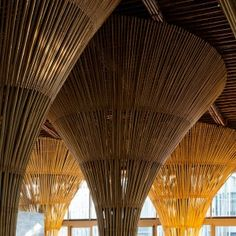 Vo Trong Nghia adds bamboo restaurant and beach bar to spa resort in Vietnam Bamboo Design, Plant Design, Vietnam Restaurant, Architectural Trees, Dezeen Architecture, Forest Cabin, Bamboo Crafts, Shade Structure, Spa Design