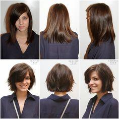 van lang haar naar een kort kapsel, lang haar afknippen