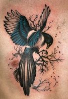 I love this Magpie tattoo, maybe I'll make a similar one on me one day!