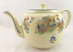 Pretty GIBSONS ENGLAND 'A Bit of Old England' Floral Cottage Teapot - PF A07
