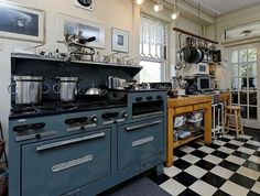 stove & floors of this kitchen by Jazzy Jess J