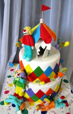 Circus Clown Cake  on Cake Central