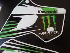 DECAL SET GAS TANK STICKERS GRAPHICS KAWASAKI KLX 650 !FREE SHIPPING worldwide! #kLX650