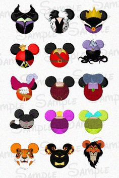 "Villainous character inspired DIGITAL Bottle Cap Mouse head image sheet 4x6 1"" inch  DIY"